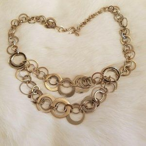 Liz Claiborne Abstract Gold Necklace 2763